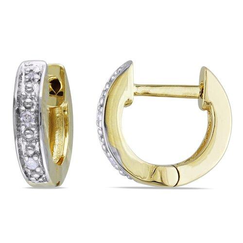 Round Cut Diamond Hoop Earrings