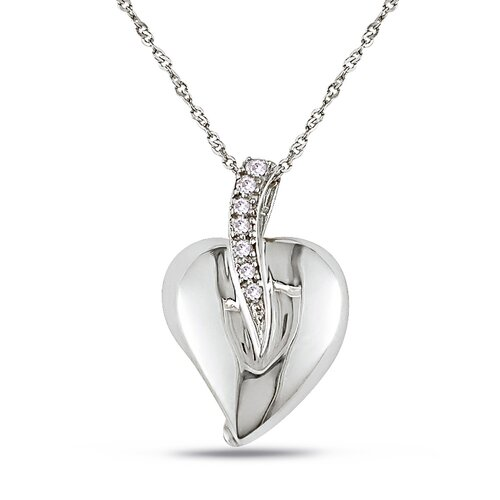 White Gold Heart Diamond Pendant
