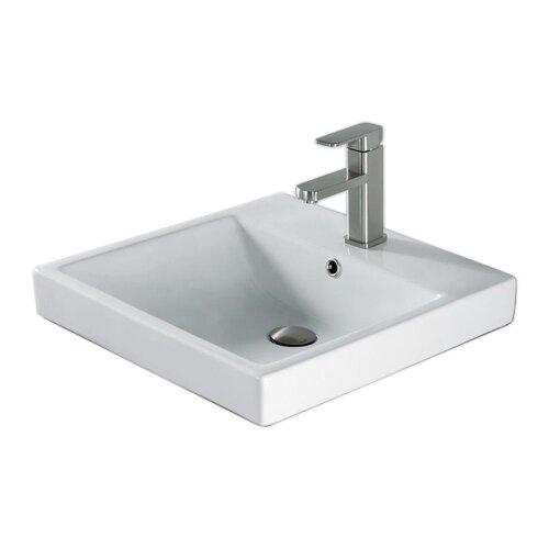 20 quot above counter square ceramic bathroom sink wayfair