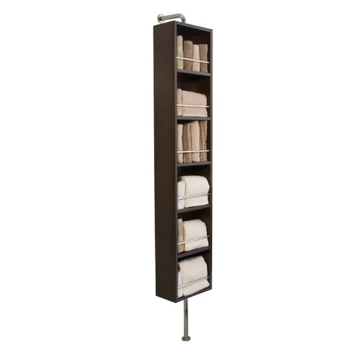12 Quot W X 60 Quot H Rotating Linen Tower With Mirror Wayfair