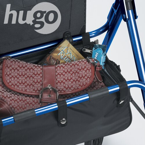 Hugo Portable Rolling Wallker with Seat Backrest