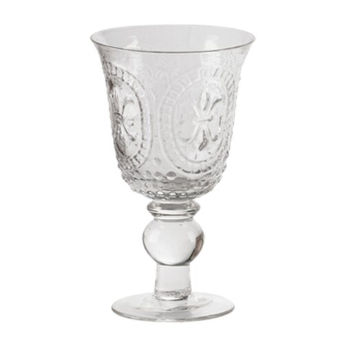 Renaissance Pressed Glass Goblet