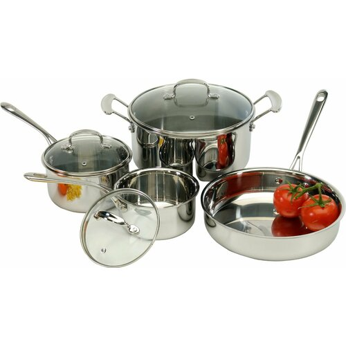 7 Piece Tri-Ply Stainless Steel Cookware Set