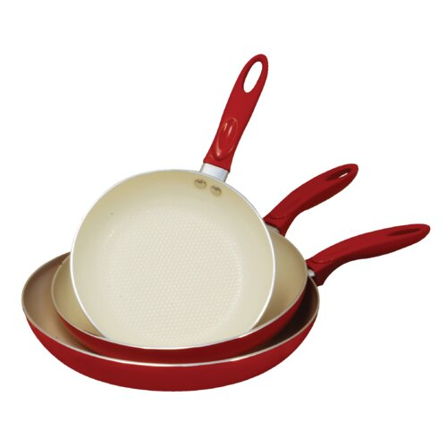 3 Piece Non-Stick Frying Pan Set
