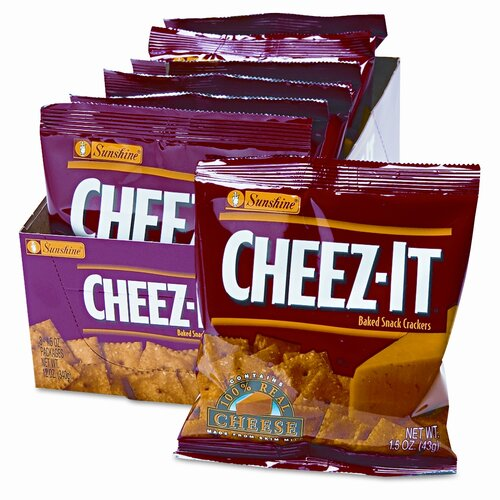 Kelloggs Sunshine Cheez-It Crackers, 8 Packs/Box
