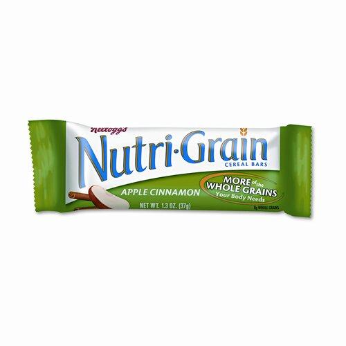 Kelloggs Nutri-Grain Cereal Bars, Apple-Cinnamon, Indv Wrapped 1.5oz Bar, 16/bx