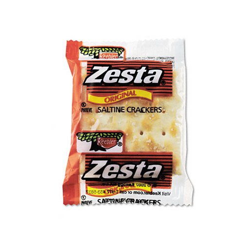 Kelloggs Keebler Zesta Saltine Crackers, 2 Crackers/Pack, 300 Packs/Carton