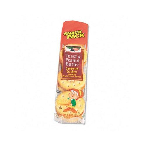 Kelloggs Keebler Sandwich Cracker, Peanut Butter, 8-Cracker Snack Pack, 12 Packs/Box