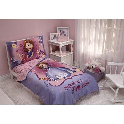 Sweet as a Princess 4 Piece Sofia the First Toddler Bedding Set