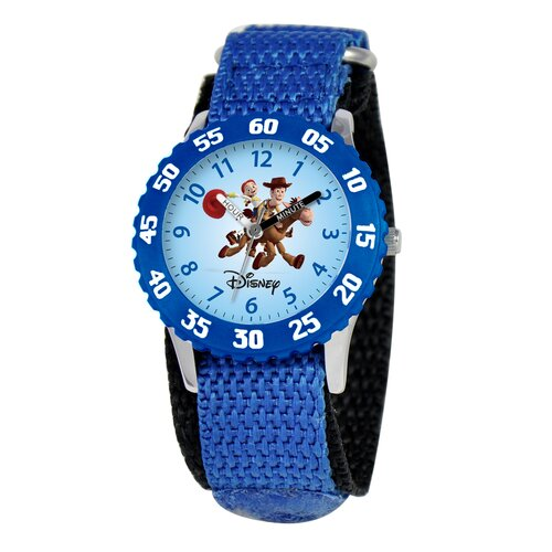 Disney Kid's Wood and Jessie Time Teacher Watch in Blue