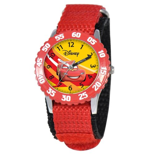 Disney Kid's Cars Time Teacher Watch in Red