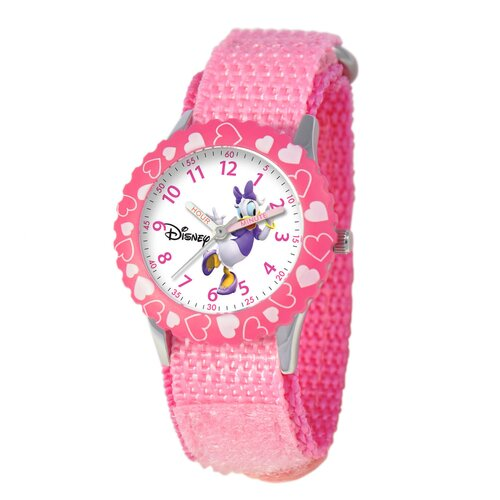 Kid's Daisy Duck Time Teacher Velcro Watch in Pink