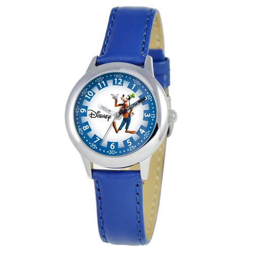 Disney Kid's Goofy Time Teacher Velcro Watch in Blue