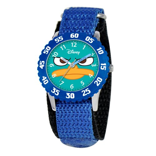 Disney Kid's Agent P Time Teacher Watch in Blue