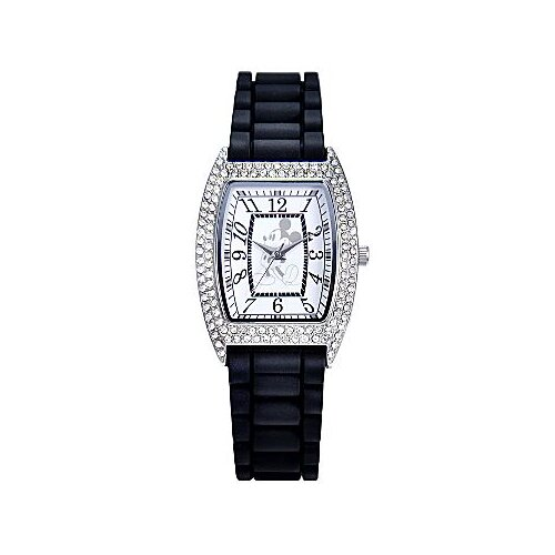 "Disney Womens Mickey Mouse ""Crystal Accent"" Watch"