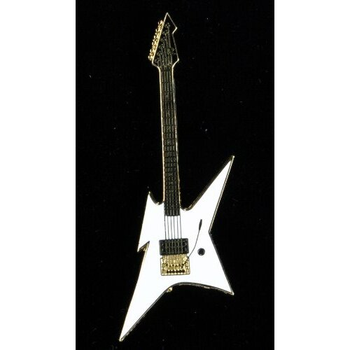 Harmony Jewelry BC Rich Ironbird Electric Guitar in Gold and White