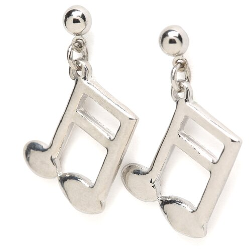 Noteables 16th Note Earrings in Silver
