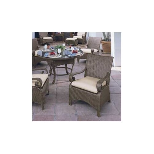 Woodard Carlton Wicker Deep Seating Chair w/ Cushions