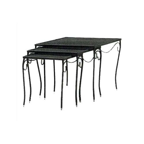 Mesh Top Occasional Square Side Table