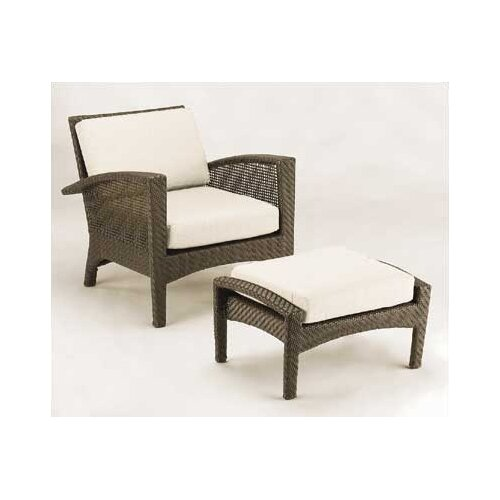 Woodard Trinidad Wicker Deep Seating Chair w/ Cushions