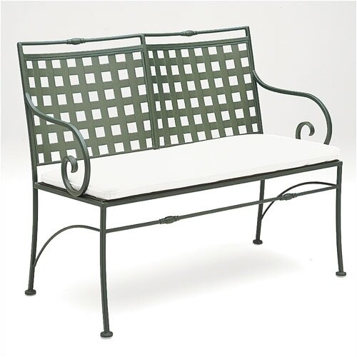 Woodard Sheffield Wrought Iron Garden Bench