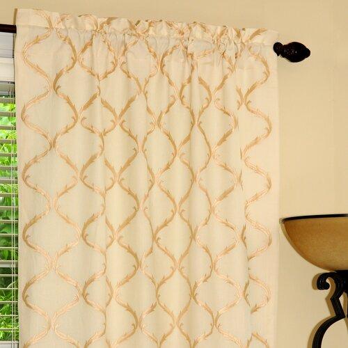Gracious Living Graceful Linen Cotton Blend Rod Pocket Drape Single Panel