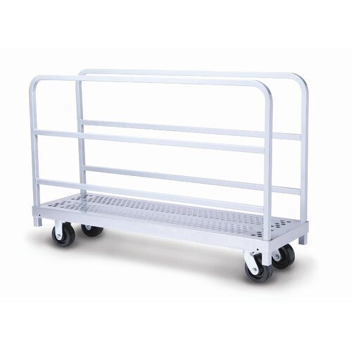 Raymond Products Narrow Tall End Truck and Phenolic Casters Table Dolly
