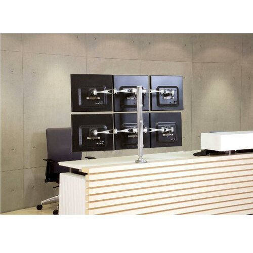 Cotytech Height Adjustable 6 Screen Monitor Desk Mount