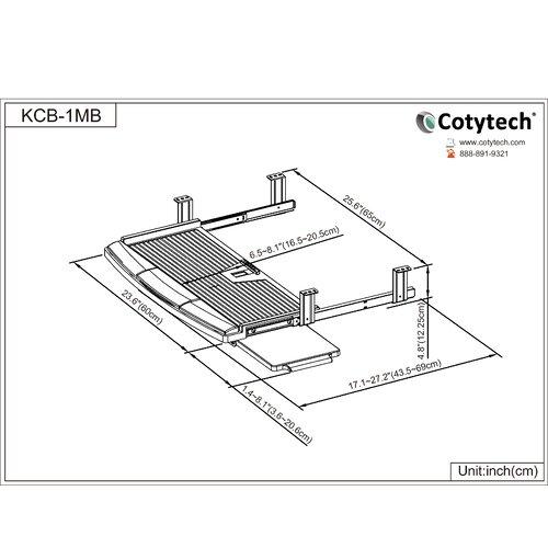 Cotytech Keyboard Mouse Tray