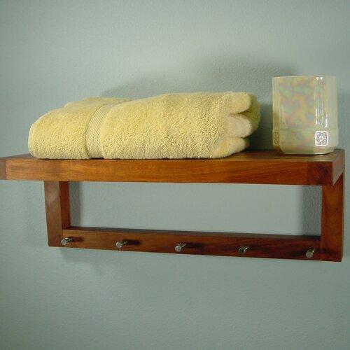 Model Teak Shower Shelf  NaturalWoodDecorcom
