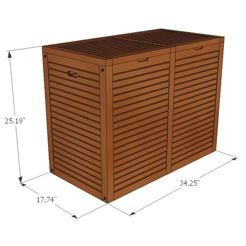 Aqua Teak Spa Teak 2 Section Hamper