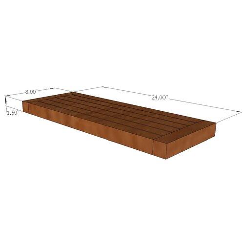 """Aqua Teak Spa Teak 24"""" x 1.5"""" Bathroom Shelf"""