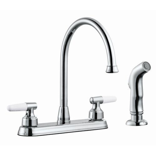 Aberdeen Double Handle High Arch Kitchen Faucet with Sprayer