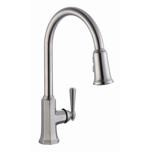 Design House Barcelona Single Handle Kitchen Faucet with Pullout Sprayer