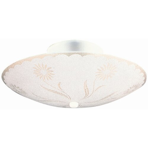 Design House 2 Light Semi Flush Mount