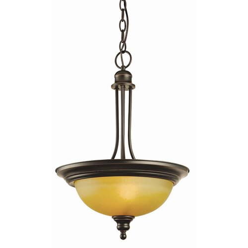 Bristol 2 Light Inverted Pendant