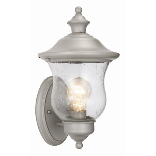 Design House Highland 1 Light Outdoor Uplight Wall Lantern
