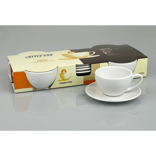 Konitz Coffee Bar 6 oz. Cappuccino Cup and Saucer