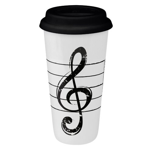 Konitz Large Travel Cleft Mug in White