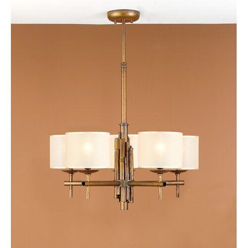 Lustrarte Lighting Rustik Bambu Five Light Chandelier