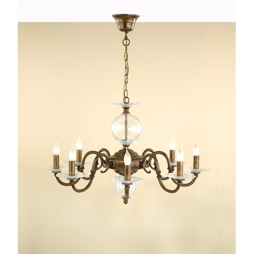 Lustrarte Lighting Classic Etrusca Eight Light Chandelier