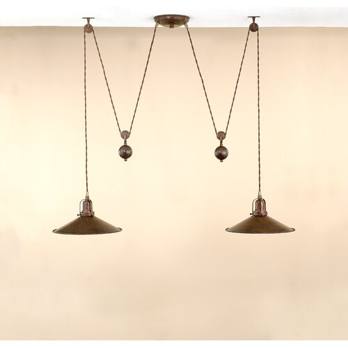 Lustrarte Lighting Rustic D'Avo 2 Light Kitchen Island Pendant
