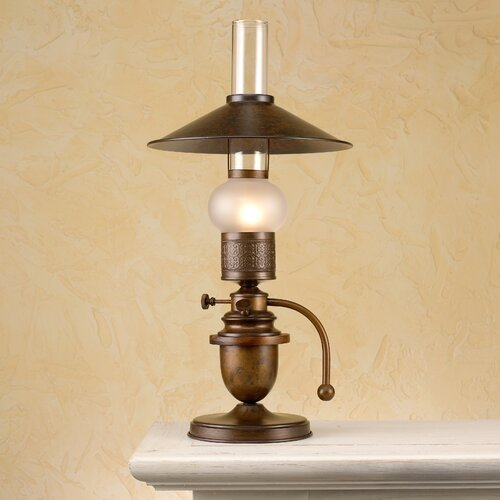 "Lustrarte Lighting Rustik Velha 19.69"" Table Lamp with Empire Shade"