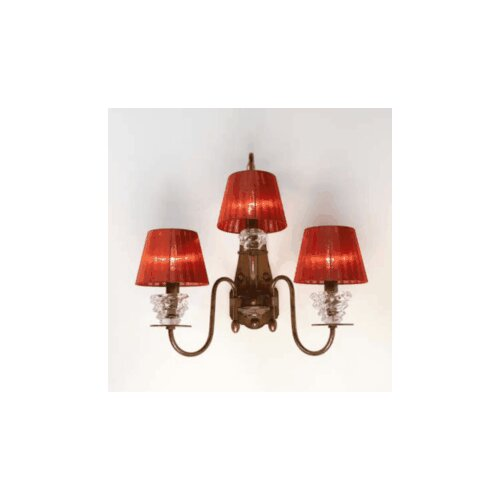 Lustrarte Lighting Classic Class 3 Light Wall Sconce