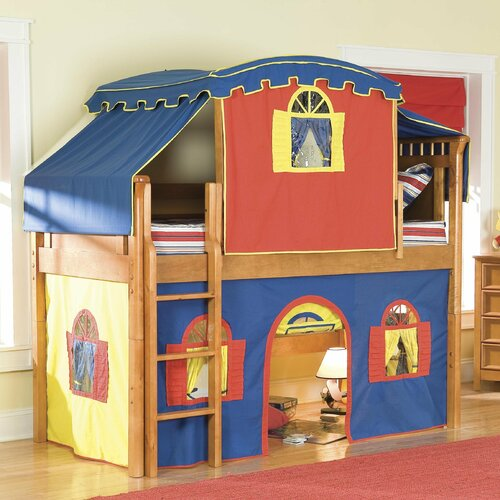 Donco Kids Tent Twin Loft Bed With Slide Reviews Wayfair