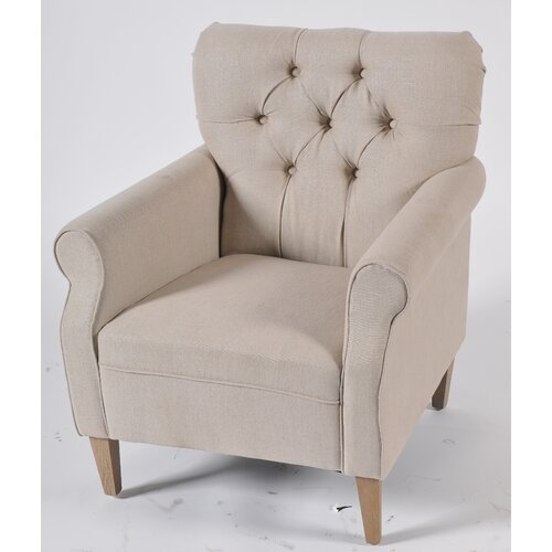 Linen Easy Arm Chair
