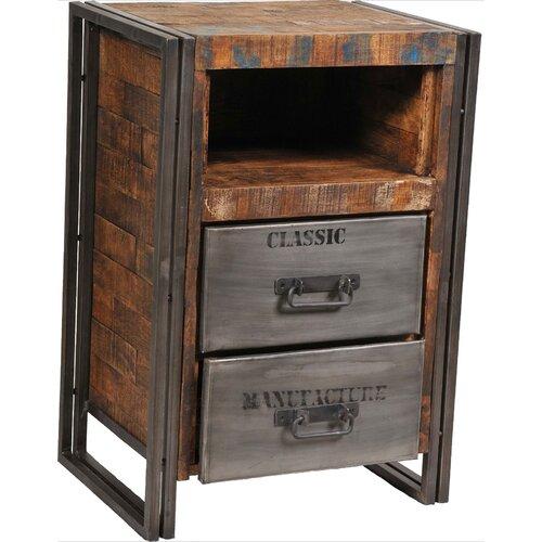 MOTI Furniture Addison 2 Drawer Nightstand