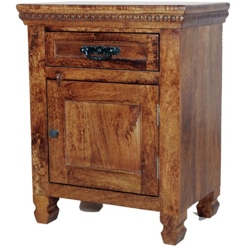 MOTI Furniture Enchanted 1 Drawer Nightstand