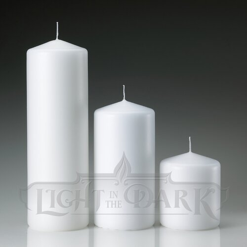 Light In the Dark Pillar Candles (Set of 3)