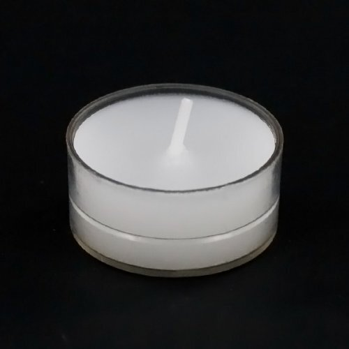 Light In the Dark Unscented Tealight Candles with Clear Cup